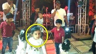 MS Dhoni CUTE Daughter Ziva's AMAZING Dance On BRAVO's Song At Suresh Raina's Daughter Birthday Bash