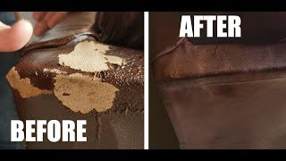 How To Fix Peeling Leather ( Bonded - Blended) Quick & Easy