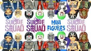 Suicide Squad Task Force X LEGO KnockOff Minifigures w/ Joker Deadshot Katana & Killer Croc