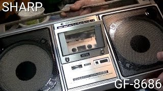 SHARP GF-8686 Boombox The Cassette Door Replace