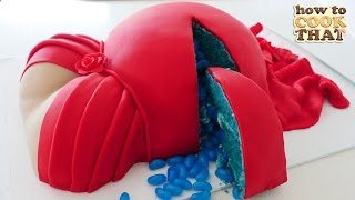 PREGNANT BELLY CAKE for BABY SHOWER How To Cook That Ann Reardon