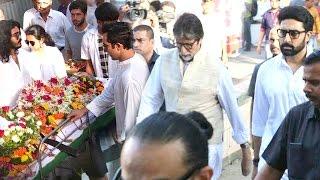 Amitabh Bachchan & Abhishek Bachchan At Vinod Khanna