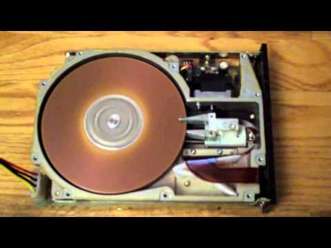 40 MB Hard Drive spinning up - MiniScribe 3650