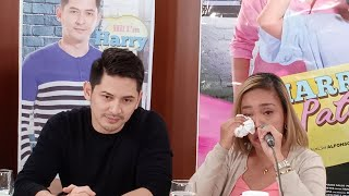 Kakai Bautista on Ahron Villena: Mahal na mahal!; emosyonal sa launching movie Harry and Patty