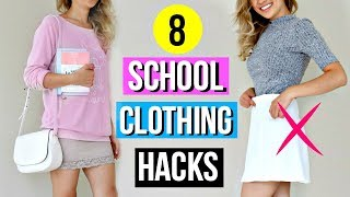 8 Back to School Clothing Hacks EVERY Student Must Know!