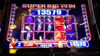 Super Big Win Vampire's Embrace Slot Machine Bonus Round Free Spins