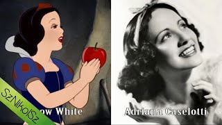 Characters and Voice Actors - 1937 Snow White and The Seven Dwarfs