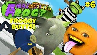 Annoying Orange Plays - Amazing Frog #6: FROGGY BUTTS!