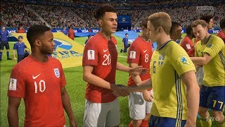 2018 FIFA World Cup Russia - Sweden vs England - Gameplay (HD) [1080p60FPS]