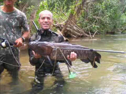 Pesca sub em Rio Centro Oeste Brasil