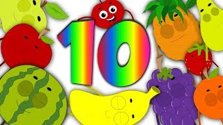 Fruits Ten In The Bed | Fruits Song | Learn Fruits | Nursery Rhymes Song For Kids And Children