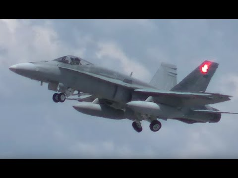 RAAF Classic and Super Hornets Take Off at Canberra Airport