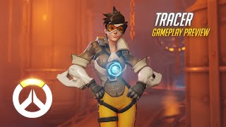 Tracer Gameplay Preview | Overwatch | 1080p HD, 60 FPS