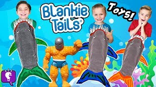 MEGA 🦈 SHARK WEEK Surprises! BlankieTail Sharks, Swim Pool Shark Goggle + Toys HobbyKidsTV