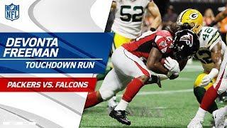 Devonta Freeman Scores TD & Shoots a Free Throw to Celebrate!   Packers vs. Falcons   NFL Wk 2