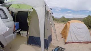 Truck Camping: Pop Up Shelter with Shower Tent and Tarp