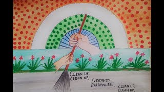 Drawing on swachh bharat ll clean India drawing ll Swachh bharat abhiyan drawing