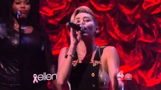Miley Cyrus - Wrecking Ball (Live on The Ellen DeGeneres Show 2013)