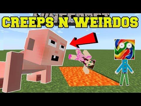 Minecraft MORE CREEPS & WEIRDOS BIG BABY LOLIPOP MAN & MORE Mod Showcase