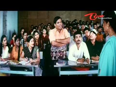 Telugu Comedy Scene - English Lecturer Hot Navel Show