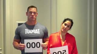 Nikki Bella show her boobs and Nude John Cena and Nikki Bella stay true to their