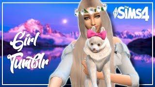 The Sims 4 | Create a Sim- Tumblr Girl and Dog❤