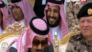 الرائد : مشعل بن محماس يلقي قصيدة أمام الملك / سلمان بن عبدالعزيز آل سعود -حفظه الله-