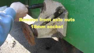 Deere Gator 6X4 drive chain replacement