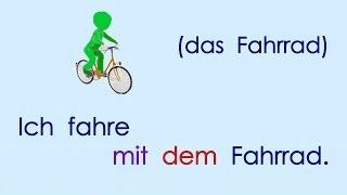 Deutsch lernen Grammatik 15: mit dem ...,  neben der ... (Dativ, Präpositionen mit Dativ)