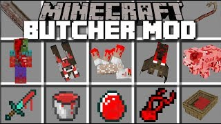 Minecraft BUTCHER MOD / OPENING A BUTCHER SHOP FOR THE VILLAGERS!! Minecraft