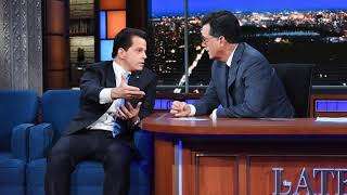 Anthony Scaramucci says Steve Bannon would be fired 'if it was up to me' on 'Late Show'