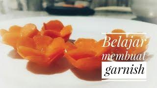 Garnish mudah dari wortel