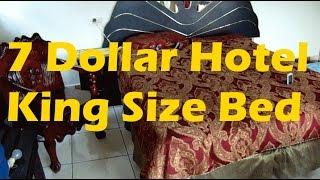 7 Dollars Lake Atitlan Hotel Room in El Amigo King Size Bed #cheaphotel
