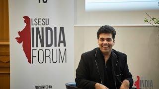 Karan Johar at LSE - In Conversation with Anupama Chopra - LIF 2017