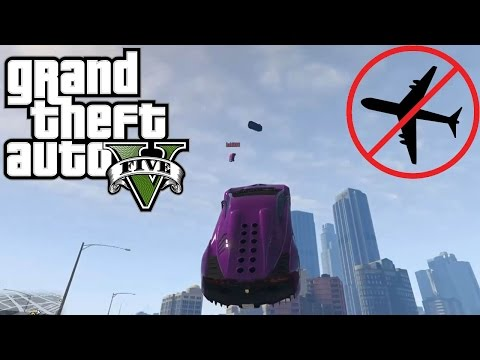 GTA 5 Flying Cars - The Rage Race w/ Bodil40, Baki and Martin