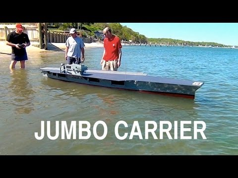Jumbo R/C Aircraft Carrier: Launching the