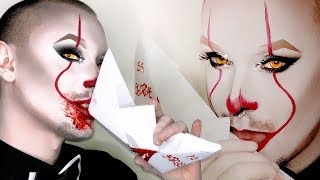 IT 2017 - Sexy Pennywise Halloween Makeup Tutorial