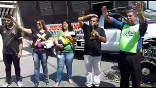 Marcha pra Jesus   Rua Roque Barbosa   oração pelo Pr  Ricardo Melo com Pr  Davi Guabert