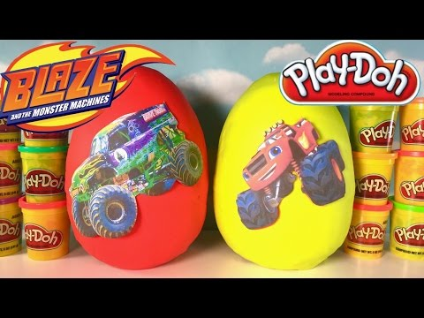Xxx Mp4 Giant Blaze And The Monster Machines And Grave Digger Surprise Eggs Play Doh Toys Monster Trucks 3gp Sex