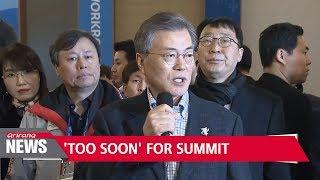 S. Korean President Moon Jae-in says talk of Pyongyang summit premature