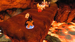 """LEGO Dimensions Gollum Practices Destroying The Ring at Mount Doom """"Cast Into The Fire"""""""