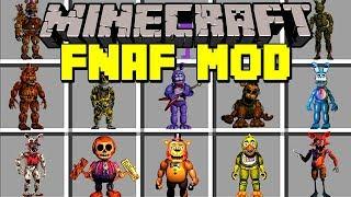 Minecraft FNAF MOD! | SURVIVE FIVE NIGHTS AT FREDDY'S ANIMATRONICS! | Modded Mini-Game
