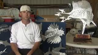 Custom Metal Fish Art Sculpture- Themetaledge.com