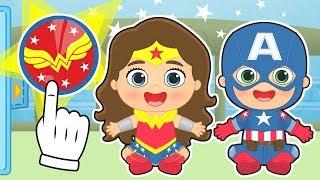 BEBES ALEX Y LILY Se transforman en Wonder Woman y Capitan America | Dibujos animados educativos