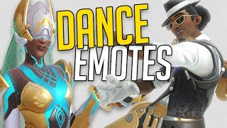 ALL DANCE EMOTES (UNIQUE Songs for Each!) - Overwatch Anniversary | STAR2D2