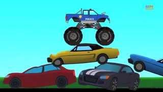Monster Truck   Police Monster Truck   kiddy video