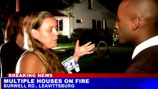 Woman says her cousin set her house on fire because