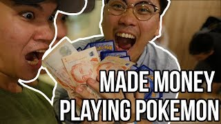 MADE MONEY PLAYING POKEMON CARDS (Burning Shadows PreRelease) - Vlog #39