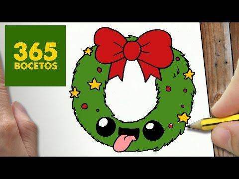 Como Dibujar Guirnalda Para Navidad Paso A Paso Dibujos Kawaii