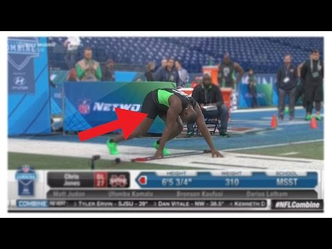 Xxx Mp4 Chris Jones Dick Falls Out In NFL Combine 40 Yard Dash Defensive Lineman Penis Falling Out LIVE 3gp Sex